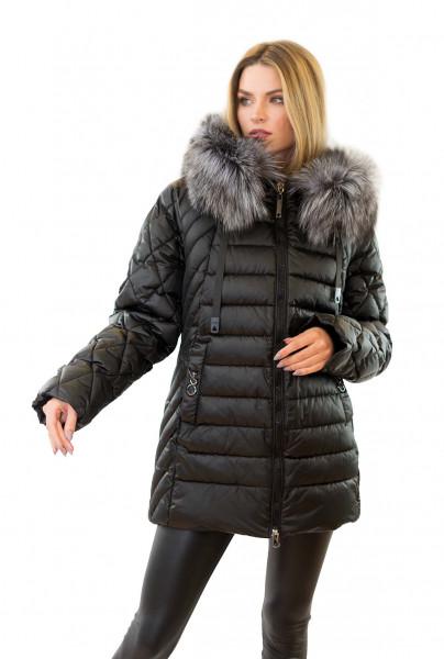 Winterjacke mit Echtfell Jacke mit Echtpelz Jacke mit Fellkapuze