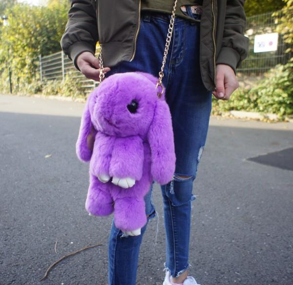 Felltasche violett