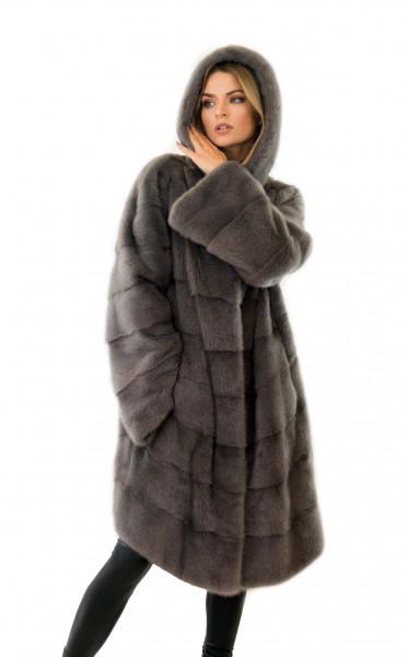 Echtfell Mantel aus Nerz Echtfell Jacke aus Pelz Fell Nerz