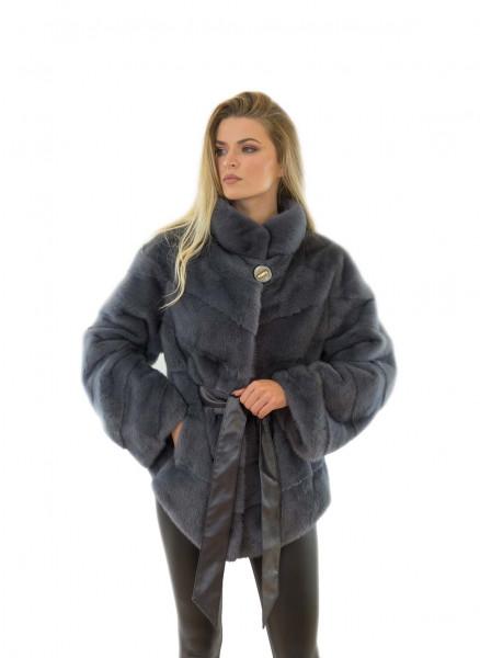 Echtfell Jacke aus Nerz Echtpelz Jacke aus Nerz Fell Mantel aus Nerz
