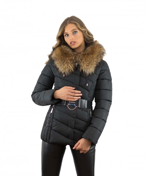 Winterjacke mit Fellkapuze Finnraccoon