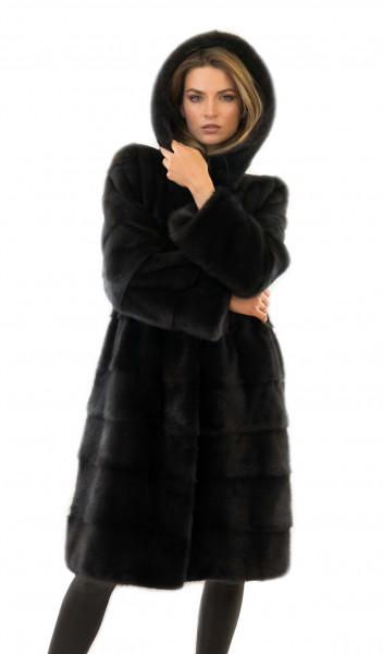 Mantel aus Fell Nerz Fell Jacke Fellmantel aus Nerz Norkovaya Shuba Norkovaja Shuba