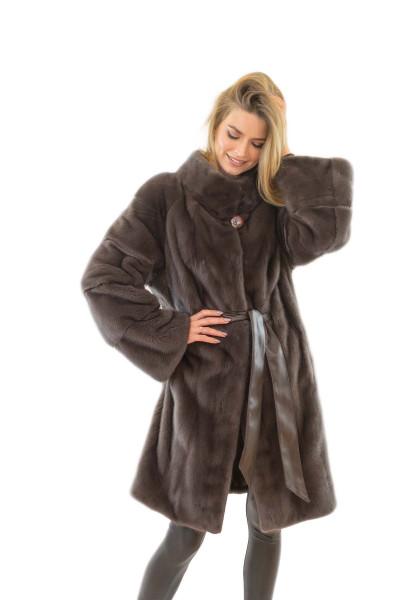 Echtfell Jacke aus Nerz Echtpelz Jacke Echtfelljacke Echtpelzjacke Fell Mantel Pelzjacke